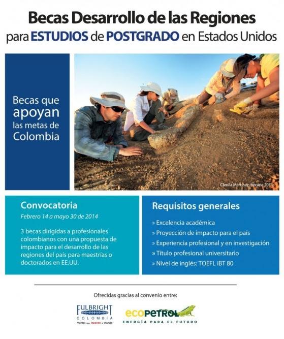Becas desarrollo de las regiones para estudios de - Becas para colombianos en el exterior ...